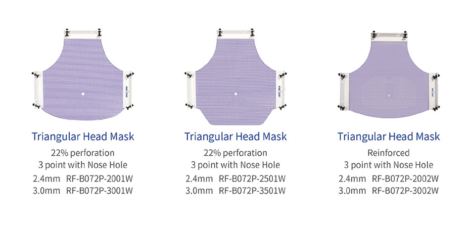 Meicen Violet P-Type 5-Point Head-Neck-Shoulder Mask with Quickfaster Radiotherapy Thermoplastic Mask