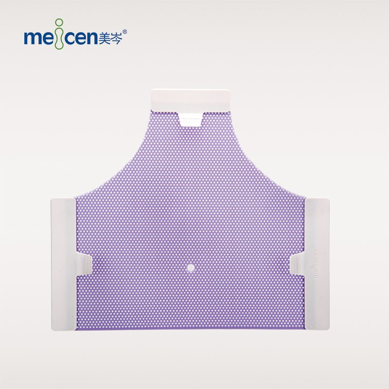 Meicen Violet Triangular Head Mask 3-Point with Nose Hole