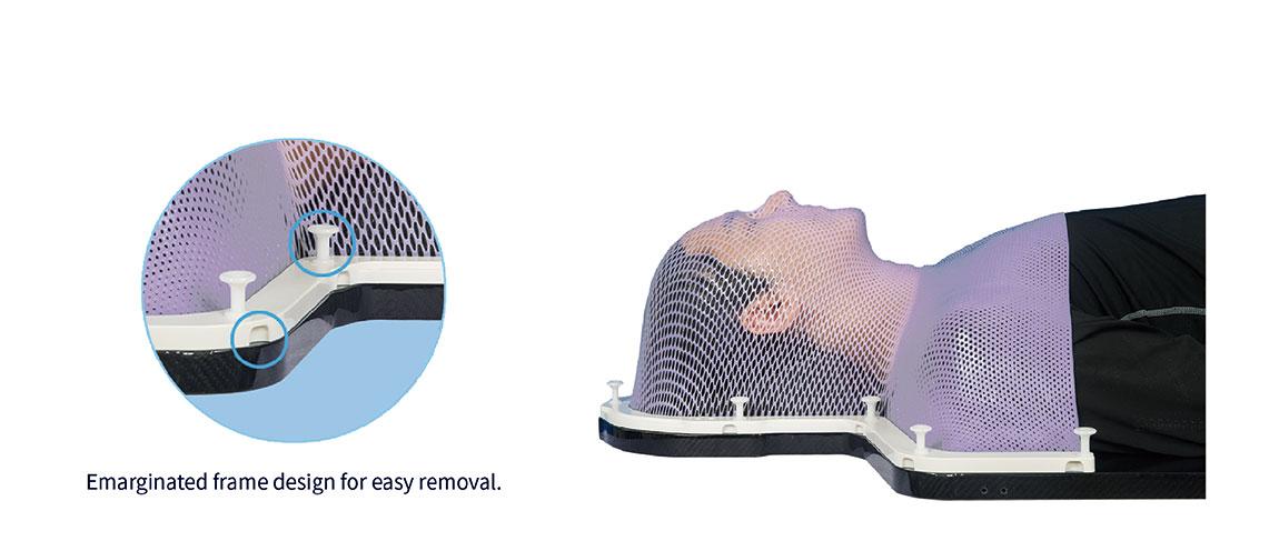 Meicen Violet S-Shaped Head&Shoulder Mask  Reinforced Pin-Lock