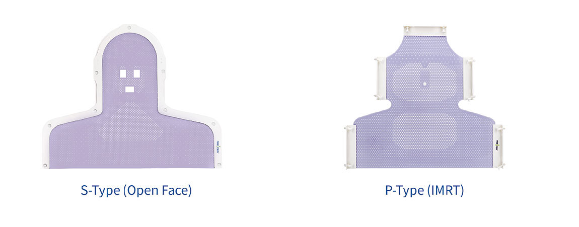Meicen Violet S-Shaped Head&Shoulder Mask  for Radiotherapy  immobilization with Pin-Lock