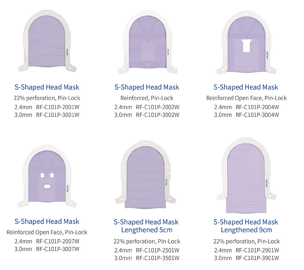 Meicen Violet S-Shaped Open face Head and Shoulder Mask Pin-Lock