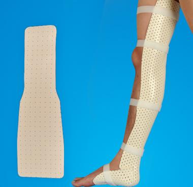 Thermoplastic Splint -Knee & Ankle Precut Splint for Orthopedic External Fixation