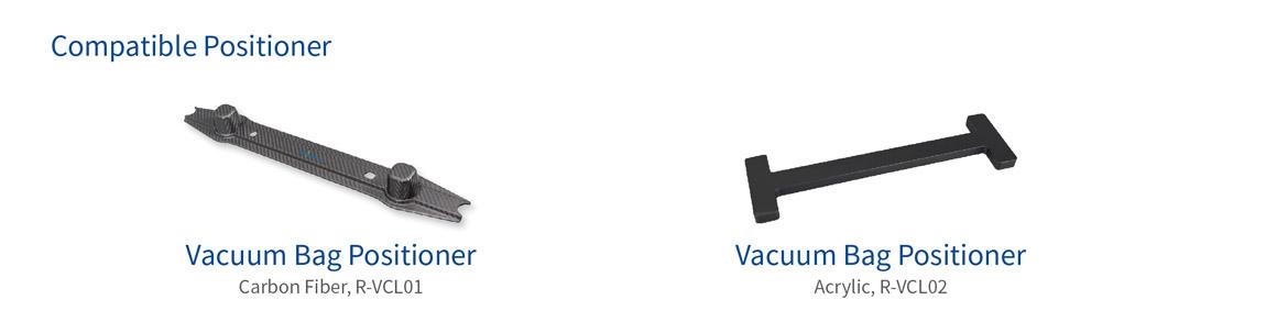 vacuum bag positioner