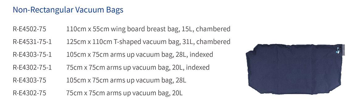 non-rectangular vacuum bags
