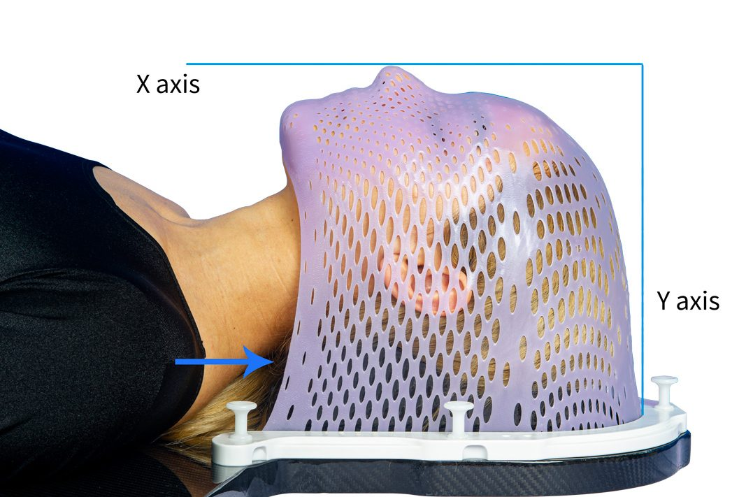 headrest for radiotherapy
