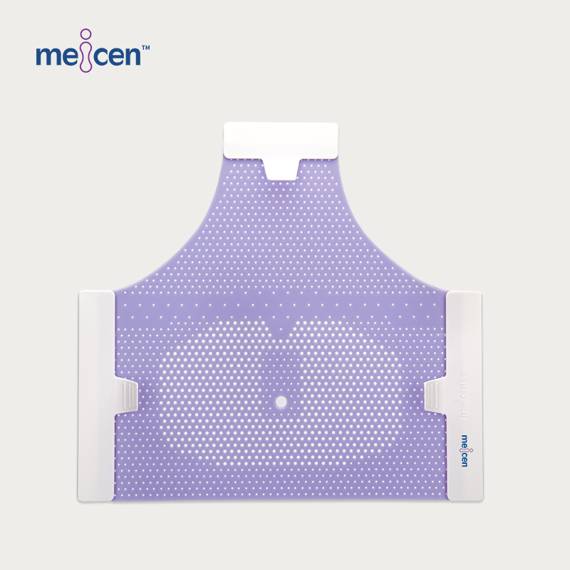 Meicen Violet Triangular Head Mask Reinforced, 3-Point Head Mask with Nose Hole