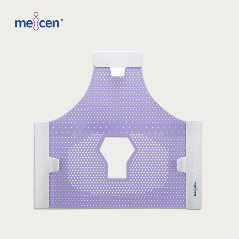 Meicen Violet Triangular Head Mask Reinforced, 3-Point Head Mask with Open Face
