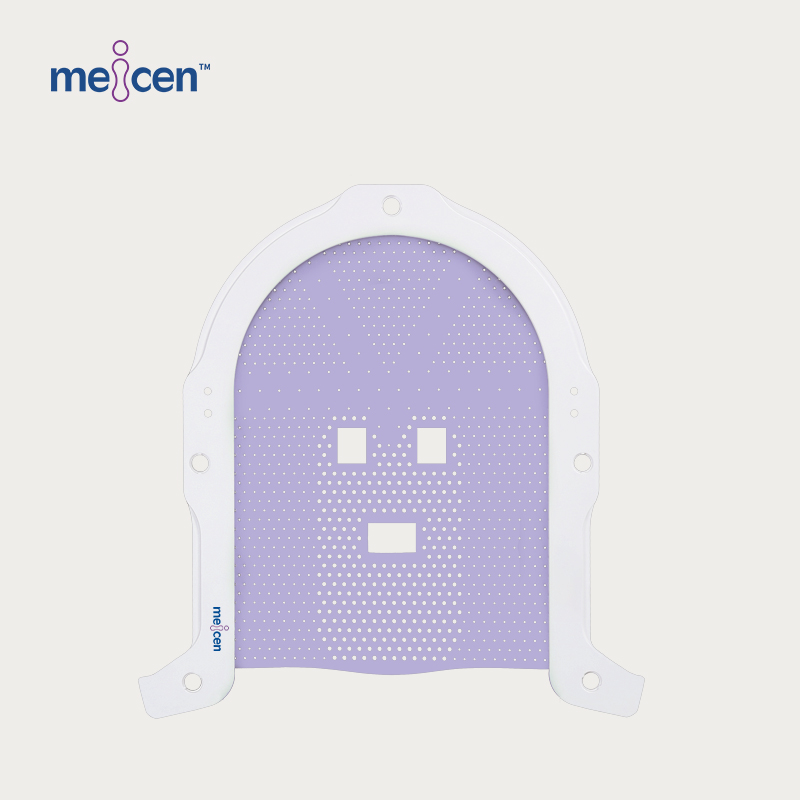 Meicen Violet  S-Shaped Openface Head Mask Pin-Lock