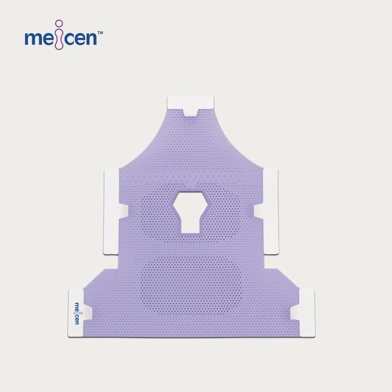 Meicen Violet Head&Neck&Shoulder Mask Reinforced 5-Point with Open Face