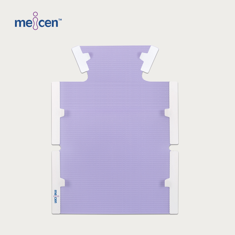 Meicen Violet Thorax & abdomen Mask, 6 Point Thermoplastic Mask