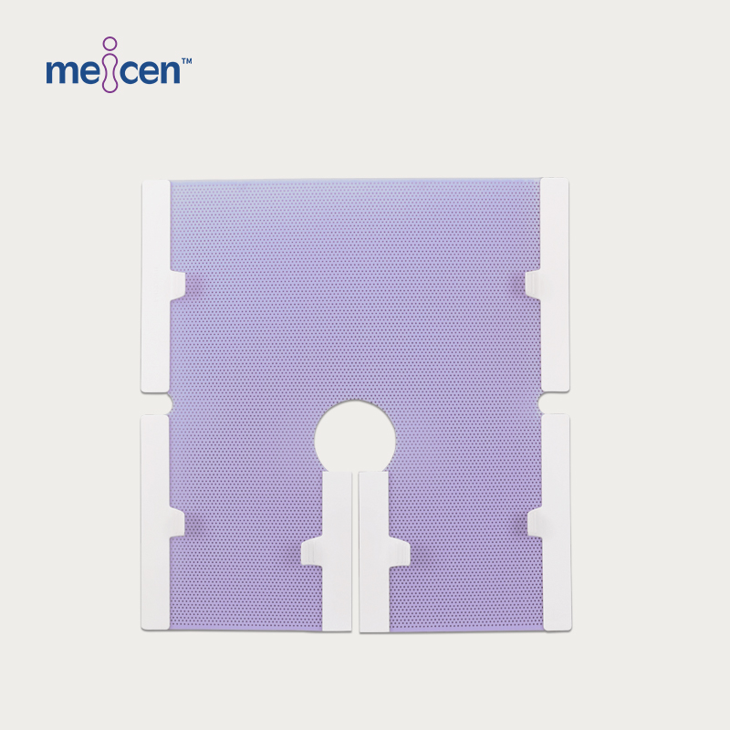 Meicen Violet Pelvis Mask 6 Point with Grip Radiotherapy Thermoplastic Mask